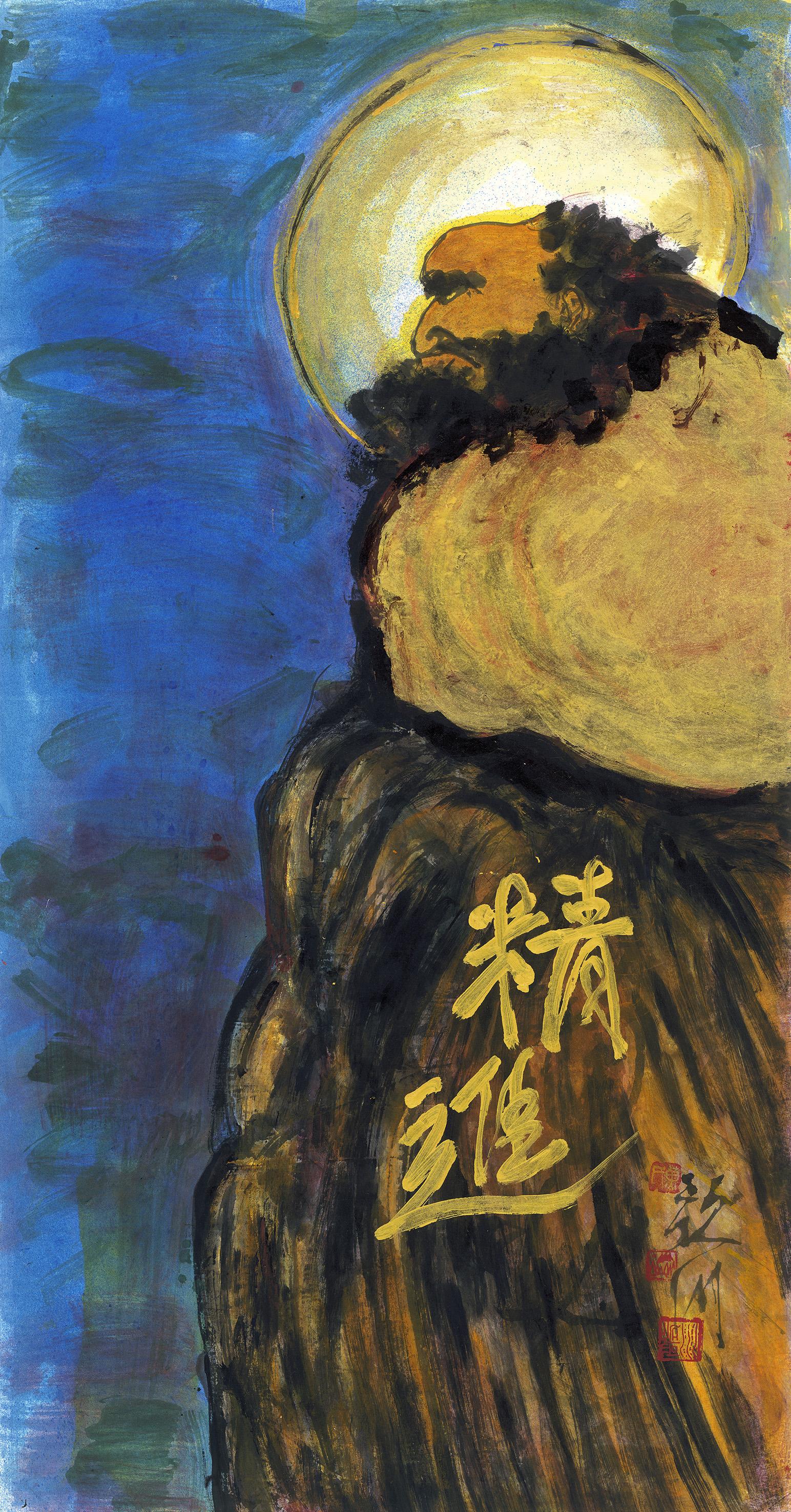 黃歌川 達摩禪畫精進 72×139cm 2007 (JPG).jpg